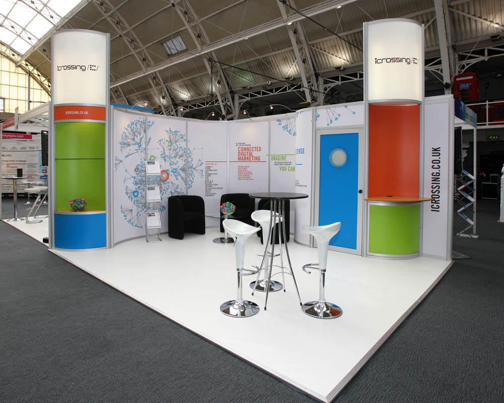 Modular exhibition stand for ICrossing.co.uk